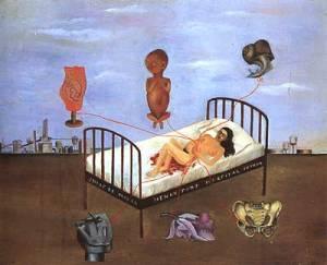 Frida Kahlo Ospedale Henry Ford (o Il letto volante) 1932 Museo Dolores Olmedo Patino Città del Messico