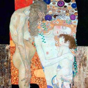 Gustav Klimt  Le tre età della donna 1905 Galleria Nazionale di Arte Moderna Roma
